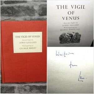 The-Vigil-Of-Venus-Lewis-Gielgud-Wood-Engravings-C1950-034-Signed-034-Hardback