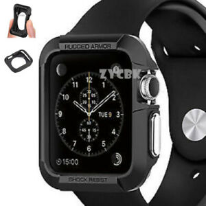 Apple-Watch-Protective-Case-Cover-iWatch-Bumper-Protector-Black-Lldty-F7H9