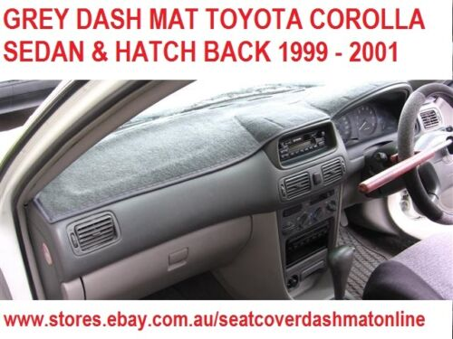GREY GREY DASHMAT FIT TOYOTA COROLLA SEDAN//HATCH BACK 1999-2001 DASH MAT