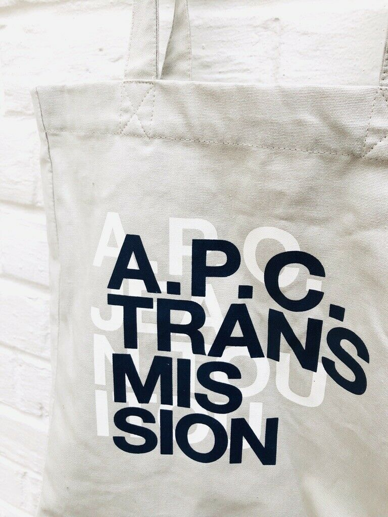 A.P.C Transmission light grey tote bag totebag - … - image 2