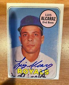 Luis Alcaraz Signed Autographed 1969 Topps Kansas City Royals