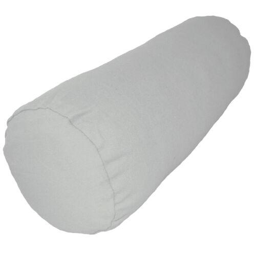 aa149g Light Grey Cotton Canvas Fabric Yoga Bolster Cushion Cover Custom Size