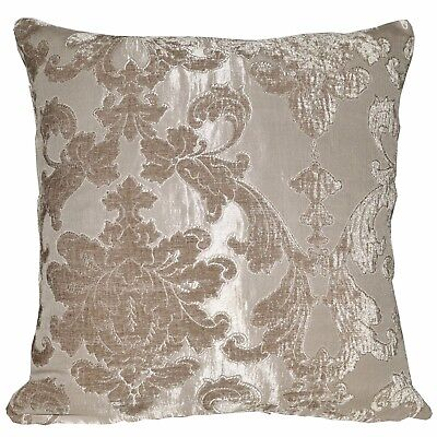 vb09a Light Taupe and Khaki Stripe Thick Cotton Blend Cushion Cover//Pillow Case