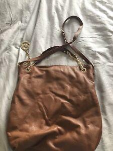 d5c06f63fd8 Details about Michael Kors Soft Tan Leather Bag