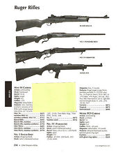 2004 AD RUGER RIFLES MINI-14 CARBINE,1V, PC9, 77/22, 77/44, 77R, 77RL W/SPECS
