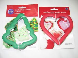 Details About Wilton Comfort Grip Cookie Cutter Holiday Christmas Tree Heart Baking Decorating