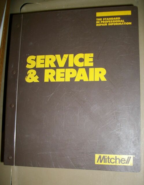 Mitchell Electrical Service Repair Imported Manual 1988