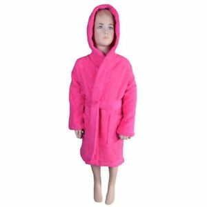 Kids Unisex Hooded Bathrobe 100% Natural Soft Cotton (Ages   3 to 7 ... 2c19e2aae
