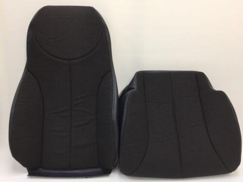 INTERNATIONAL AIR RIDE SEAT COVER DRIVER BACK,BOTTOM,ARMREST COMBO-BLACK SHERPA