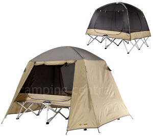 Image is loading OZTRAIL-ULTIMATE-QUEEN-STRETCHER-TENT-CAMP-COT-SWAG-  sc 1 st  eBay & OZTRAIL ULTIMATE (QUEEN) STRETCHER TENT CAMP COT SWAG MOZZIE DOME ...