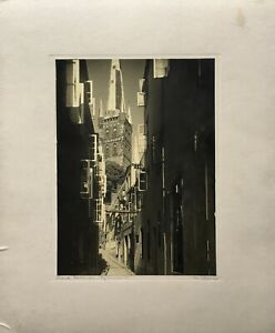 Julius-Appel-1876-1962-Lubeck-pagonienstrase-Petri-Church-Street-36-x-30-cm