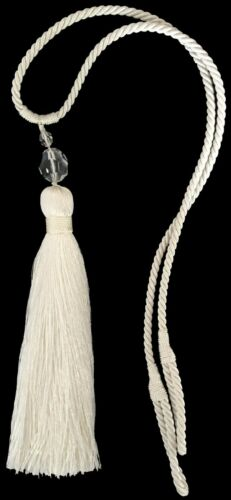 NATURAL Details about  /SILKY SINGLE TASSEL ACRYLIC BEADED TIEBACK X1 FREE P/&P ART N00629