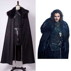 Game Of Thrones Jon Snow Nights Watch Outfit Cosplay Kostüm