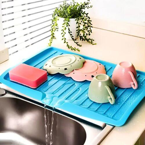 Hot Drain Rack Kitchen Plastic Dish Drainer Tray Large Sink Drying Rack Worktop
