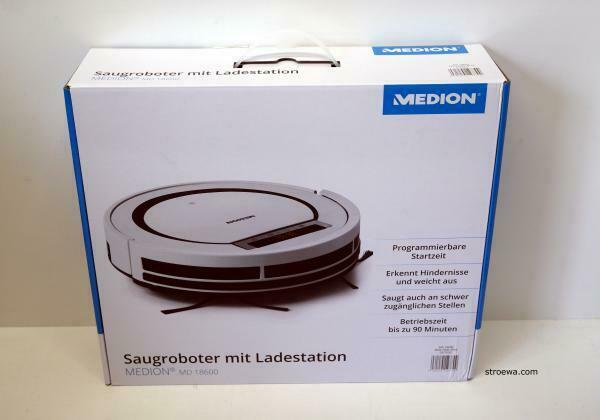 MEDION MD 18600 Weiß 0.3L Saugroboter Staubsauger