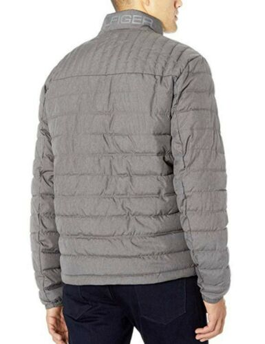 Tommy Hilfiger Men/'s Cement Gray Packable Down Puffer Jacket $195