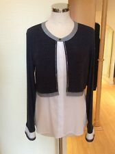 Just White Layered Top Size 16 BNWT Blue Winter White Silver RRP £90 NOW £40
