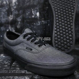5b23fd8c95 VANS ERA MONO CHAMBRAY BLACK BLACK MEN S SKATE SHOES   S85138.282