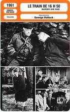 FICHE CINEMA : LE TRAIN DE 16H50 Rutherford,Kennedy,Pollock 1961 Murder She Said