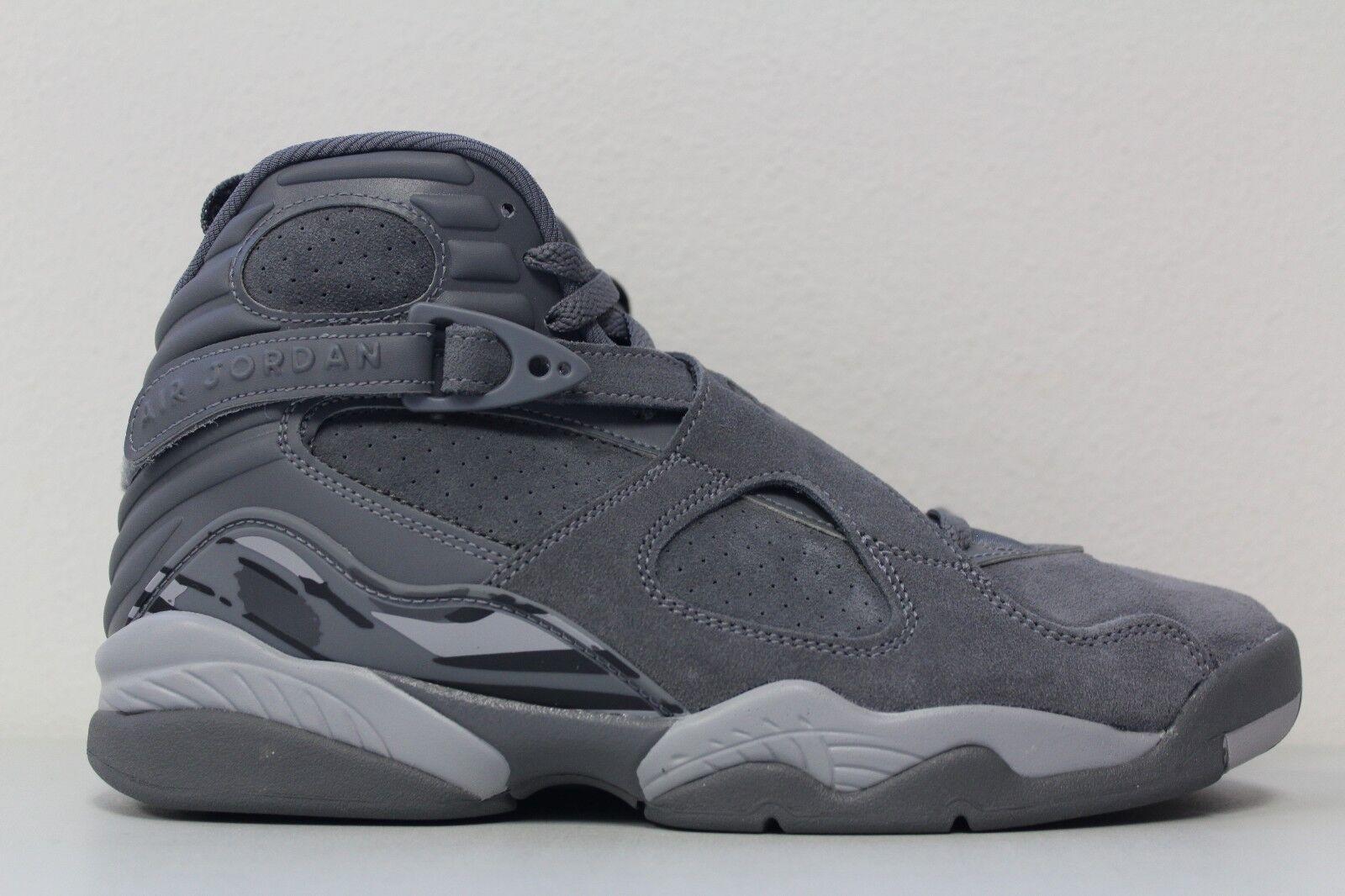 Nike air jordan 8 viii Uomo retrò taglia 10 cool grey wolf 305381-014 camoscio