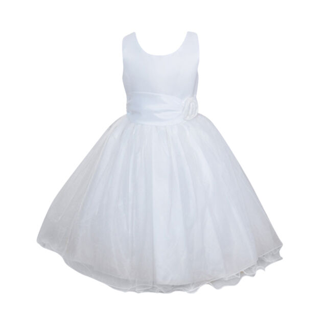 666c86cc1 Girls Rose Dress Flower Princess Sleeveless Formal Party Wedding ...