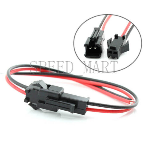 Female Wire Socket Connector Lead 24 AWG 50 Pair Power Jack Plug SM 2 Pin Male