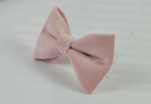 Black Elastic Suspenders for Men Youth Boy Blush Dusty Pink Velvet Bow tie
