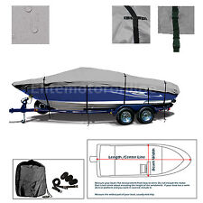 Phoenix Boats 618 Pro trailerable Storage Fishing Boat Cover Grey