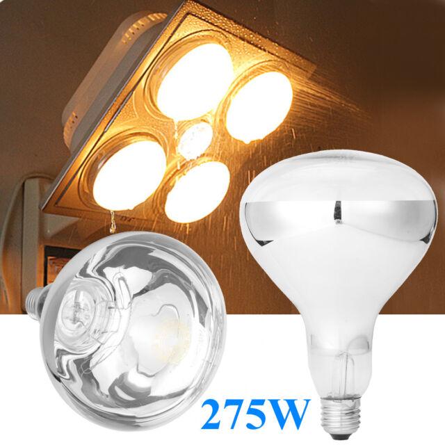 275w infrared heat light e27 bulb for ceiling exhaust fan bathroom rh ebay co uk Best Light Bulb for Heat Infrared Light Bulb