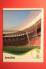 Panini BRASIL 2014 N. 11 ESTADIO NACIONAL WITH BLACK BACK TOPMINT!!