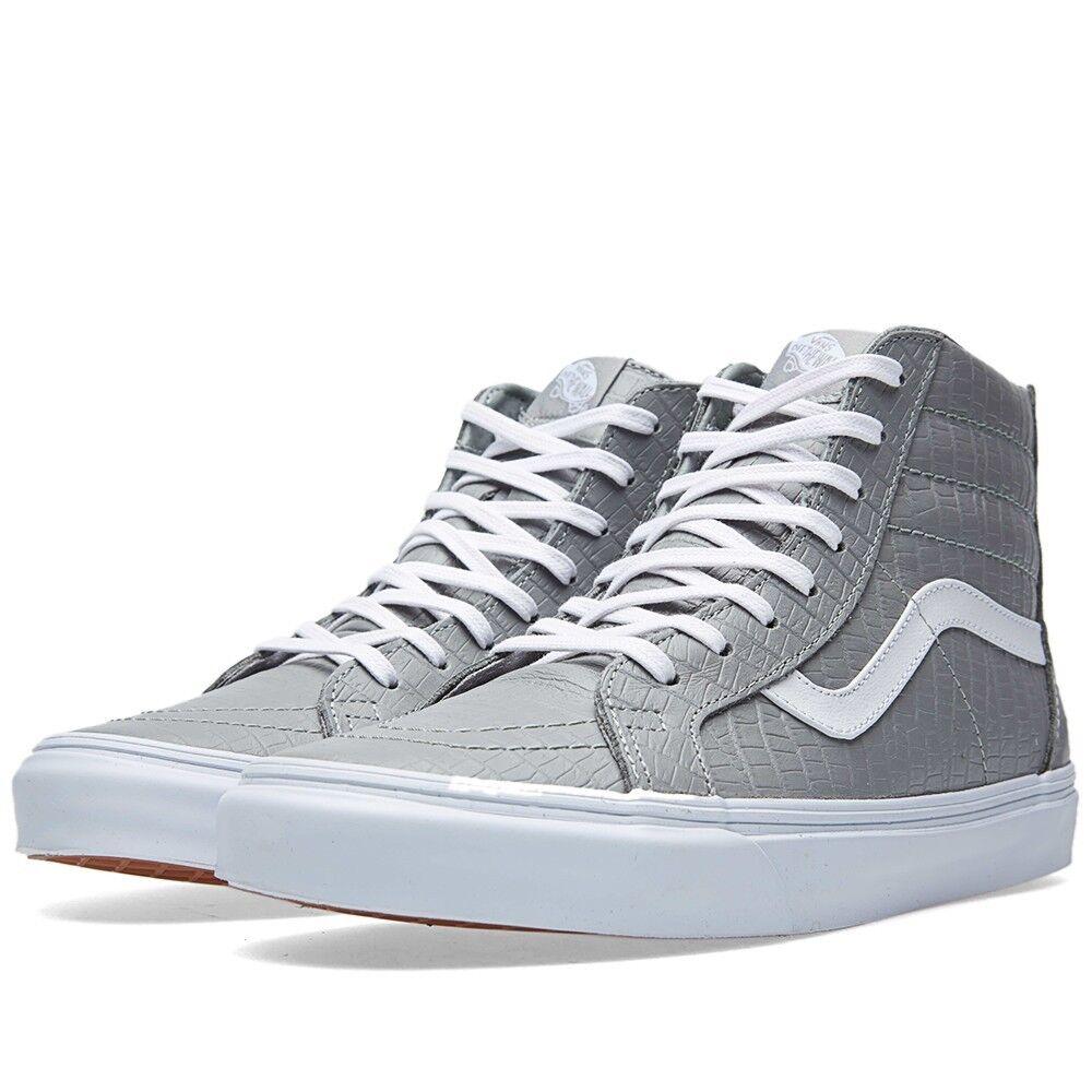 VANS SK8 CA Hi Zip CA SK8 Cocodrilo Cuero Paloma Silvestre Gris VN-0XH9FCU Nuevos Zapatos para hombre 7d025f