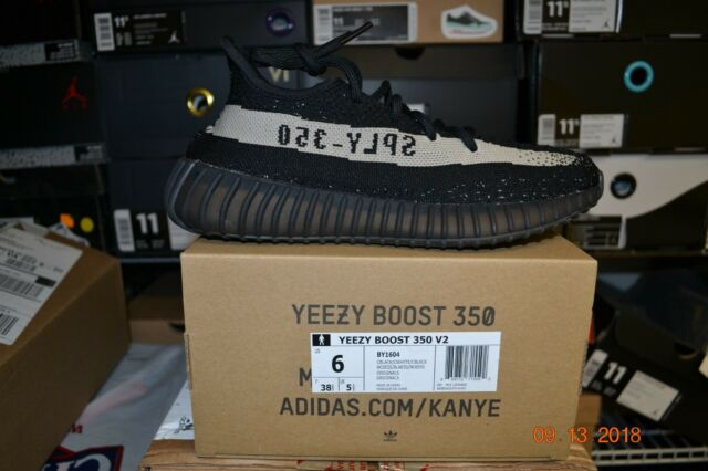 the best attitude 8892a 8cd3f Mens adidas Yeezy 350 Boost V2 Black White By1604 US 6