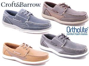 Homme-Bateau-Pont-Chaussures-Decontractees-Memory-Foam-Leger-Mocassins-Croft-Barrow-et