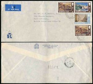 GIBRALTAR 1974 AIRMAIL to ARMY BFPO 20 GERMANY FPO123 SOLOMON LEVY ENVELOPE