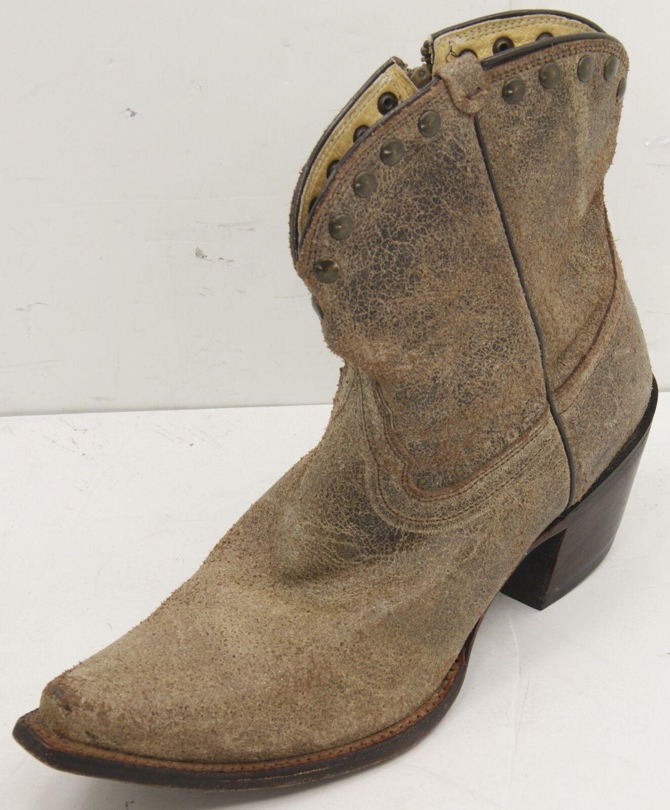 Tony Lama Latón Mardi Gras VF303 con aspecto envejecido de cuero botas de vaquero para mujer 7.5 B