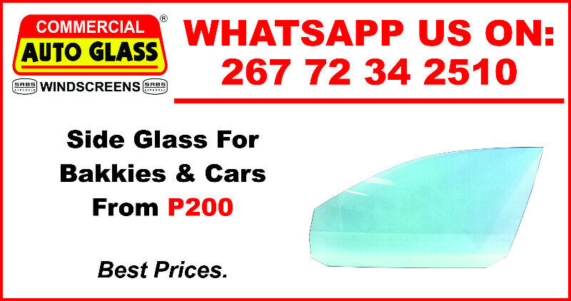 Side Glass For Bakkie and Car For Sale.