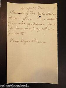handwritten rent payment receipt 1909 ebay