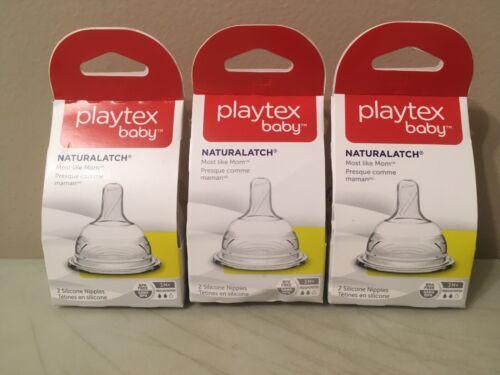 New Playtex Nurser Drop In Bottle Nipples Naturalatch Most Like MOM CHOOSE FLOW