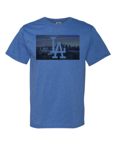 Dodgers Shirt Los Angeles Stadium Gift LA Los Angeles Skyline Mens T Shirt