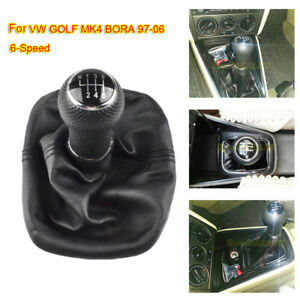 6-Speed-for-VW-GOLF-MK4-BORA-97-06-Gear-Shift-Knob-Gaiter-Boot-Cover-Frame-23mm