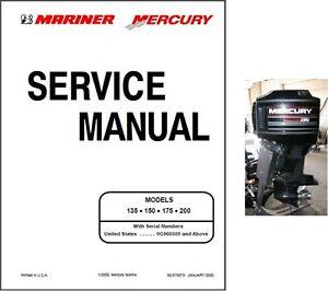 mercury mariner 135 u2022 150 u2022 175 u2022 200 2 stroke outboard motor rh ebay com Mercury Verado 150 Mercury Verado 150