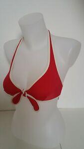 haut de maillot de bain femme soutien gorge foulard à balconnet rouge taille 40