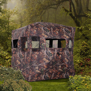 Portable Hunting Ground Blind Hide Camping Shoot Tent Camouflage