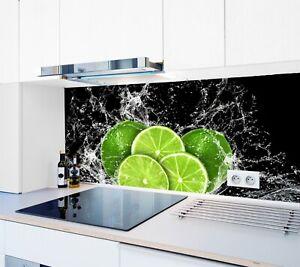 Details zu Küchenrückwand SP6 Limette Acrylglas Spritzschutz Herd  Fliesenspiegel