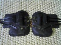 Sabre Leather Closed Front Tendon Boots Buckles Black