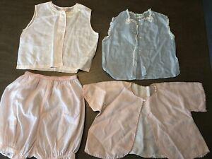 Vintage-Lot-Baby-Girls-Clothing-Pink-Lined-Jacket-Ornate-Bloomers-Feltman-Bros