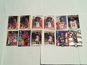Hakeem-Olajuwon-Houston-Rockets-Lot-of-12-Basketball-Cards-The-Dream-HOF