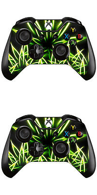 2 Pcs Cannabis Constructive Xbox One Controller Skin Foils Sticker Screen Protector Set