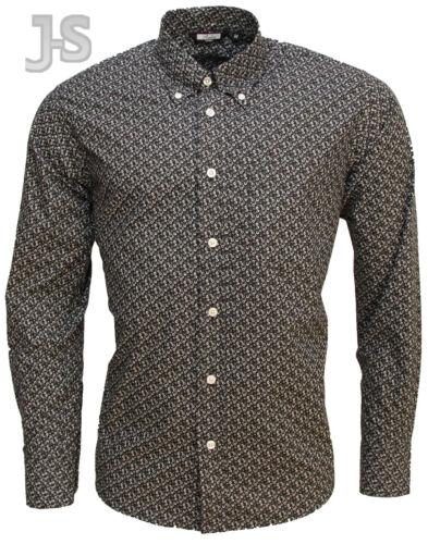 3XL Relco VINTAGE design da uomo 100/% Cotone Camicia Manica Lunga SM