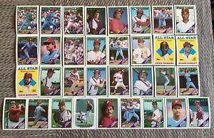 1988-PHILADELPHIA-PHILLIES-Topps-Complete-Baseball-Team-33-Card-Set-SCHMIDT-3AS